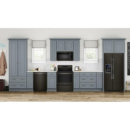 5.3 cu. ft. Whirlpool® electric range with Frozen Bake technology Fingerprint Resistant Black Stainless