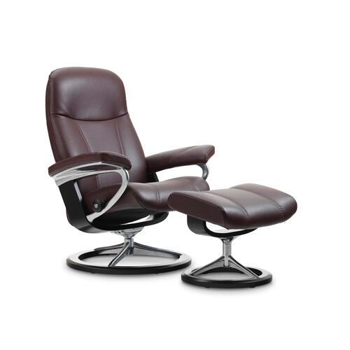 Product Image - Stressless Consul Small Signature Base Chair and Ottoman