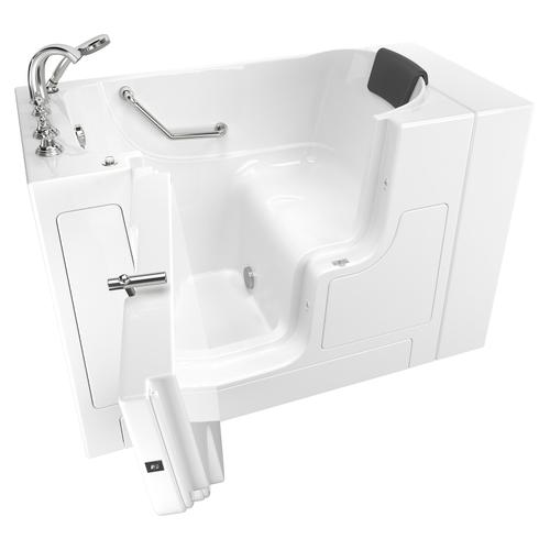 Gelcoat Premium Series 30x52 Inch Walk-in Tub with Outward Facing Door, Left Drain  American Standard - White
