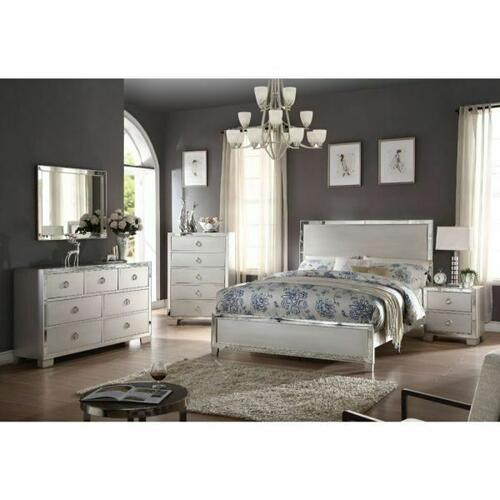 ACME Voeville II Eastern King Bed - 24837EK - Platinum