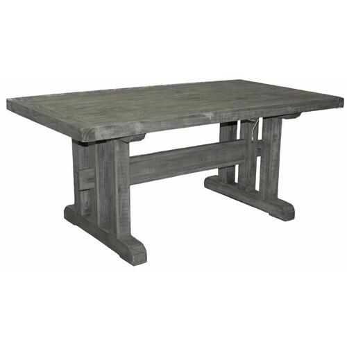 Million Dollar Rustic - Charcoal Grey 6 Ft 3 Lines Table