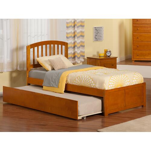 Richmond Twin Flat Panel Foot Board with Urban Trundle Caramel Latte