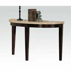 ACME Britney Sofa Table - 17144B - White Marble & Walnut