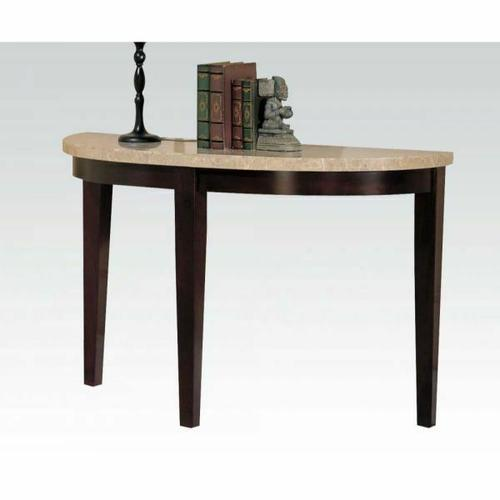 ACME Britney Sofa Table - 17144B - White Marble & Walnut