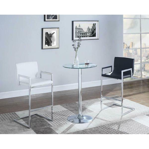 See Details - Contemporary Chrome Bar Table