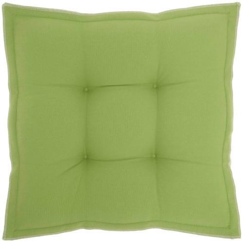 "Outdoor Pillows Qy029 Green 18"" X 18"" X 3"" Seat Cushion"
