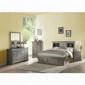 ACME Louis Philippe III Queen Bed w/Storage - 24360Q - Antique Gray
