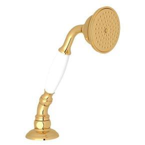 Deck Mount Handshower with Hose and Escutcheon - Italian Brass