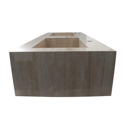 "Precious 48"" Wall-Hung Sink with Invisible Drain - Single-Hole / Behind Gray"