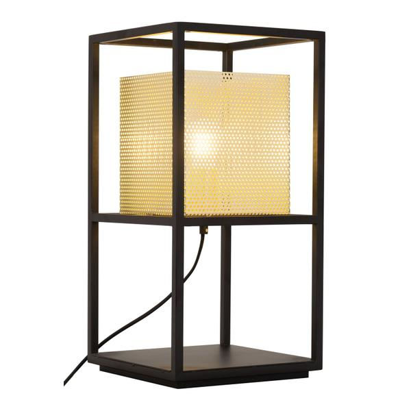 See Details - Yves Table Lamp Gold & Black