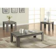 Occasional Table Sets Contemporary Distressed Grey Three-piece Set Product Image
