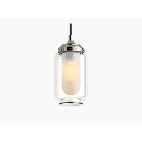 Modern Brushed Gold One-light Adjustable Pendant