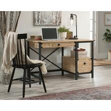 Industrial Metal & Wood Pedestal Desk