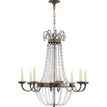 View Product - E F Chapman Paris Flea Market 8 Light 32 inch Sheffield Silver Chandelier Ceiling Light