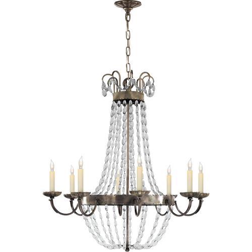 Visual Comfort - E F Chapman Paris Flea Market 8 Light 32 inch Sheffield Silver Chandelier Ceiling Light