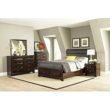 Jaxson Transitional Cappuccino Eastern King Bed