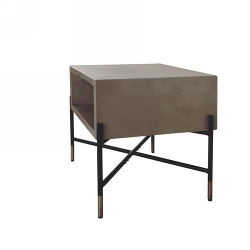 VIG Furniture - Modrest Walker Modern Concrete & Metal End Table