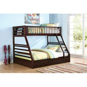 ACME Jason XL Twin/Queen Bunk Bed & Drawers - 37425 - Espresso