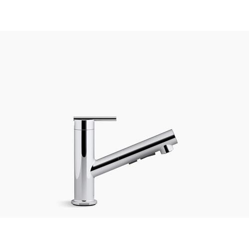 Matte Black Pull-out Single-handle Kitchen Faucet