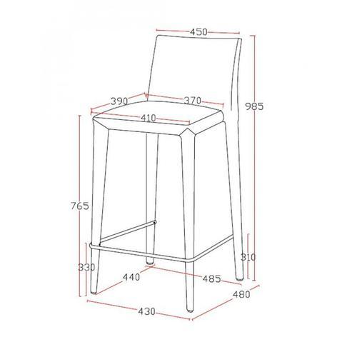 VIG Furniture - Modrest Medford Modern Grey Fabric Bar Stool