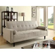 ACME Edana Adjustable Sofa w/2 Pillows - 57071 - Sand Linen