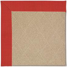 "Creative Concepts-Cane Wicker Dupione Crimson - Rectangle - 24"" x 36"""