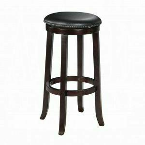"ACME Chelsea Bar Stool w/Swivel (Set-2) - 04733 - PU & Espresso - 29"" Seat Height"