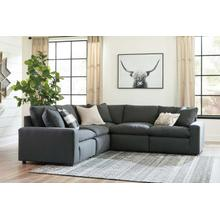 Savesto V Sectional Charcoal