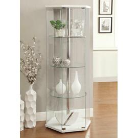 See Details - Traditional Glass Hexagon Curio Cabinet