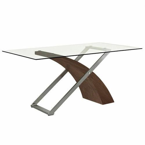 Worldwide Homefurnishings - Veneta Rectangular Dining Table in Walnut