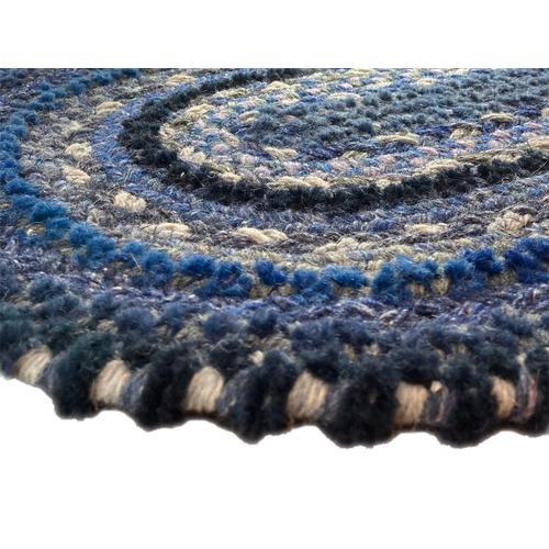 Bayview Twilight Blue Braided Rugs (Custom)