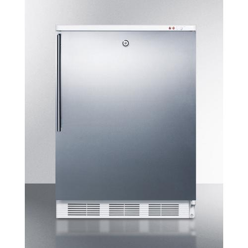 Summit - Commercial Freestanding Counter Height All-freezer Capable of -25 C Operation, With Lock, Wrapped Stainless Steel Door and Thin Handle