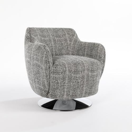 Classic Home - Leslie Swivel Accent Chair Glen Plaid