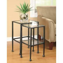 See Details - Transitional Black Nesting Table