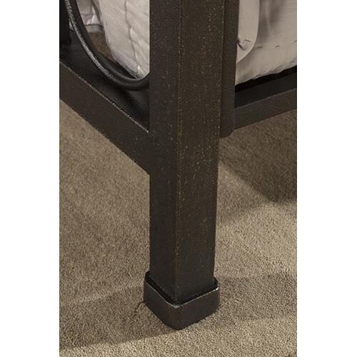 Westgate Headboard and Footboard - King - Rustic Black