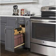 "8"" ""No Wiggle"" Pullout with Built-in Tray Divider"