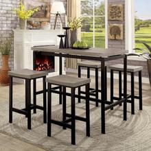 See Details - Vilvoorde 5 Pc. Counter Ht. Table Set