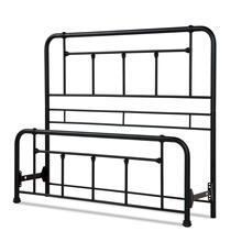 See Details - Baldwin Metal Headboard and Footboard Bed Panels with Detailed Castings, Textured Black Finish, Queen