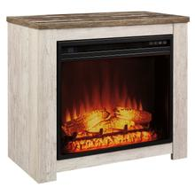 Willowton Fireplace Mantel w/Fireplace Insert Whitewash