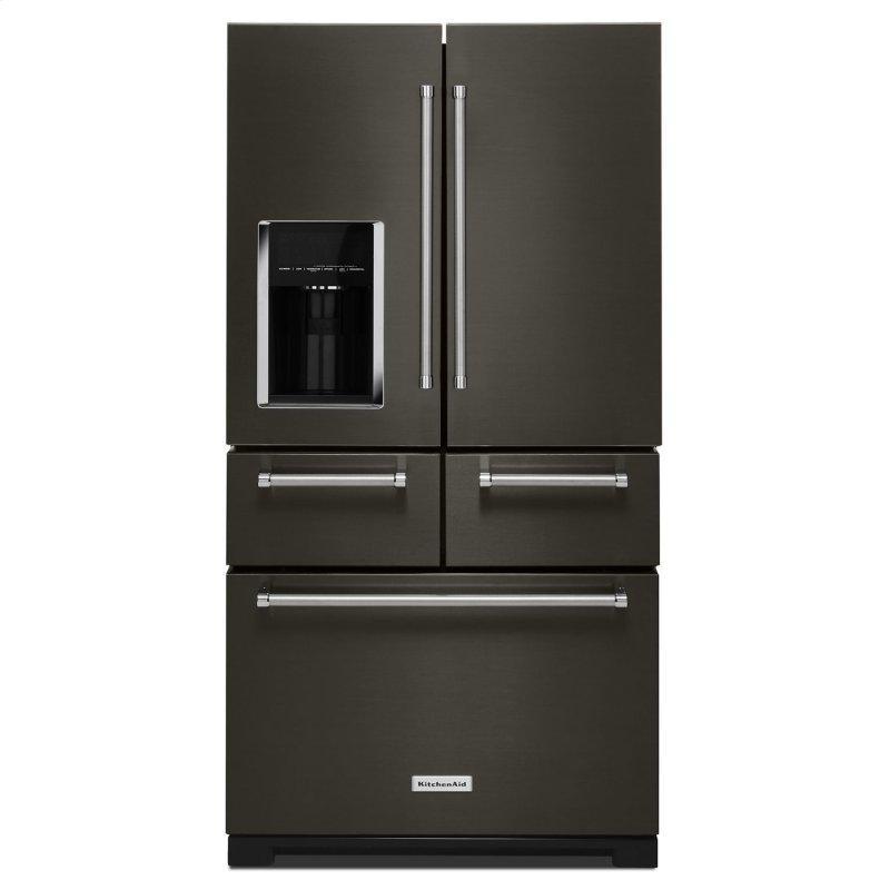"25.8 Cu. Ft. 36"" Multi-Door Freestanding Refrigerator with Platinum Interior Design Black Stainless Steel with PrintShield™ Finish"