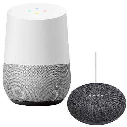 Google - Google Home and Mini Black