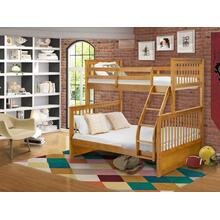 Twin & Full Bunk Bed in Natural Oak Finish