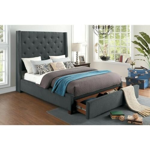 Gallery - Full Bed Platform Bed with Storage Footboard