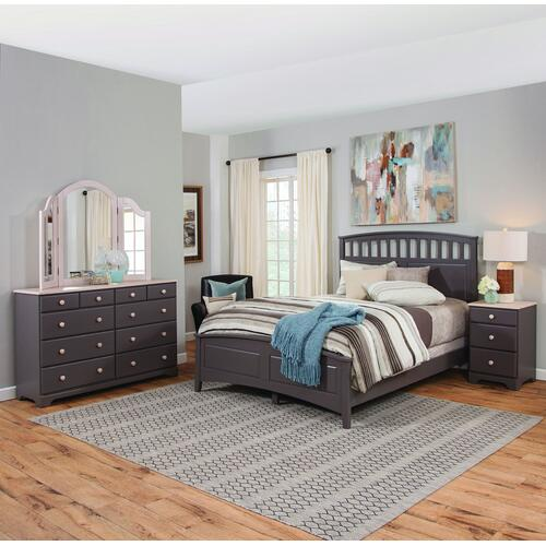 Lancaster Bridges Queen Headboard / Footboard / Rails. Available in King, Queen, Full, Twin