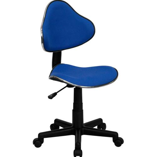 Blue Fabric Ergonomic Swivel Task Chair