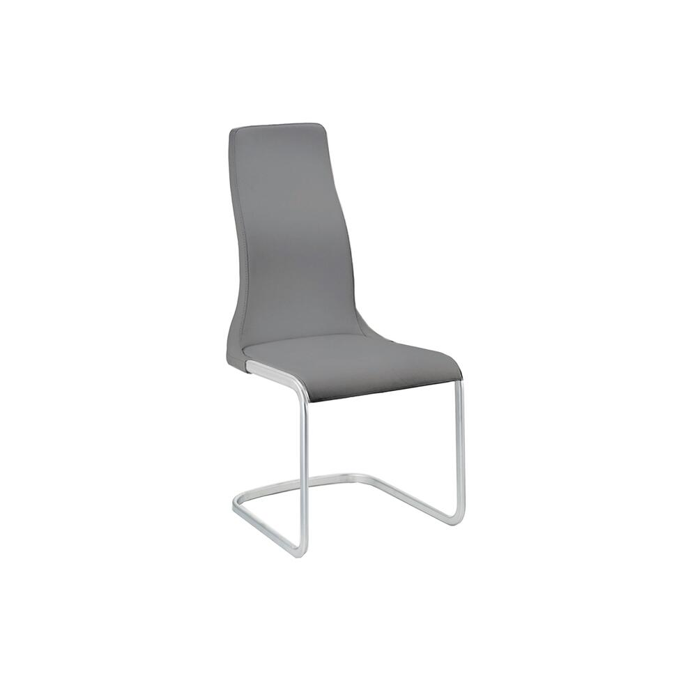 The Vero Italian Dark Gray Leather Dining Chairs