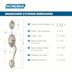 Brookshire Single Cylinder Handleset and Accent Lever - Bright Brass Product Image