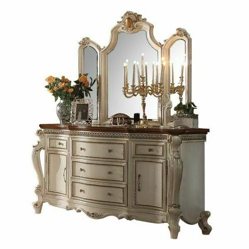 ACME Picardy Dresser - 26905 - Antique Pearl & Cherry Oak