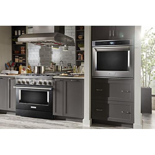 KitchenAid® 36'' Smart Commercial-Style Dual Fuel Range with 6 Burners Imperial Black