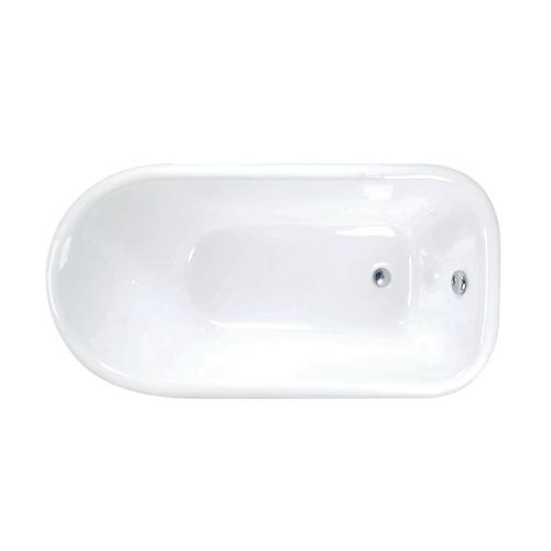 """Addison 48"""" Cast Iron Roll Top Tub - 3 3/8"""" Wall Holes / White"""